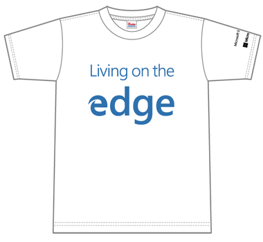 Tシャツの表面(Living on the edge)