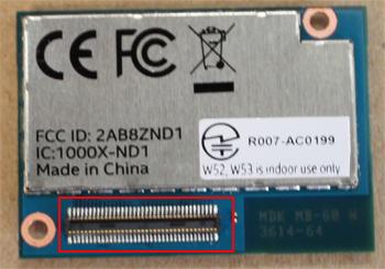 図2 Intel Edisonの背面にある70ピン・コネクター