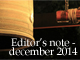 編集後記:2014年12月の出来事