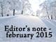 編集後記:2015年2月の出来事
